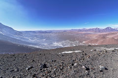 View from Lascar mountain. While scaling. This mountain is an active volcano located at Atacama desert in Chile Stock Image