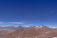 View from Lascar mountain. While scaling. This mountain is an active volcano located at Atacama desert in Chile Royalty Free Stock Photos