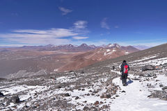 View from Lascar mountain. While scaling. This mountain is an active volcano located at Atacama desert in Chile Stock Photography