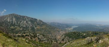 View from the Lasithi Plateau stock photos