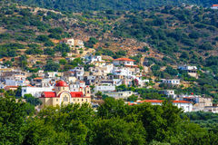 View of Lasithi Plateau on Crete Stock Photo