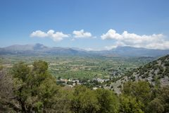 View on the Lasithi Plateau stock images