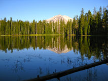 View of Lassen Peak from Lake Stock Photos