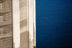 View on Lattice of Intake tower and Colorado river Royalty Free Stock Photography