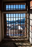 View through latticed window Royalty Free Stock Image