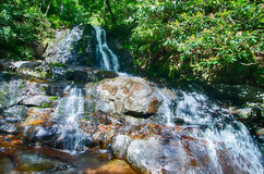 View of Laurel Falls in Great Smoky Mountain s National Park Royalty Free Stock Photos