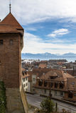 View of Lausanne from Cathedral Stock Photo