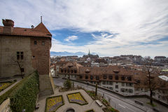 View of Lausanne from Cathedral Royalty Free Stock Photos