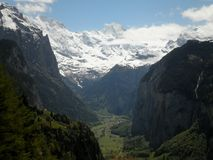 View of Lauterbrunnen Valley Stock Photos