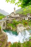 View on the Lavertezzo village, famous tourist destination - An stock images