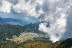 VIew from Lawu mountain. Picture was taken in Central Java, Indonesia royalty free stock image