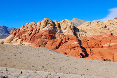 View the layers of the Red Rock Canyon Royalty Free Stock Images