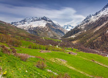 View from the Le Lautaret Pass, Ecrins, France Royalty Free Stock Photography