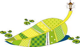 The view of leaf. With lamp Royalty Free Stock Images
