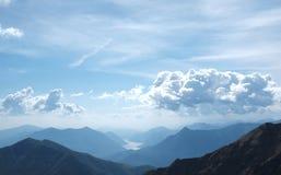 View of Lecco and Como lake Stock Photo