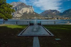View of lecco. A nice view of Lecco city from Malgrate, On the Lake of Como. November 2017 Stock Photography