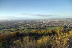 Leckhampton Hill, Cheltenham, Gloucestershire, UK. View from Leckhampton Hill over Cheltenham, Gloucestershire, UK royalty free stock images