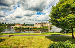 View at Leeds Castle and park Royalty Free Stock Images