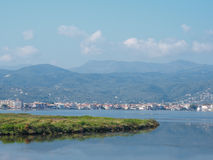 View of Lefkada town Stock Photo