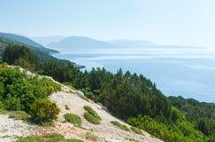 View Lefkas island (Greece). Panorama view from South cape of Lefkas island (Greece, Ionian Sea Stock Image