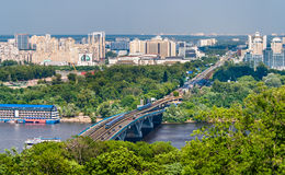 View of Left Bank of Dnieper in Kiev Stock Photography