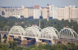 View at the Left bank of the Dnieper in Kiev. Royalty Free Stock Images