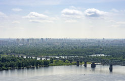 View on the left bank of Kiev Stock Photos