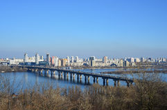 View on the left bank of Kyiv Royalty Free Stock Image