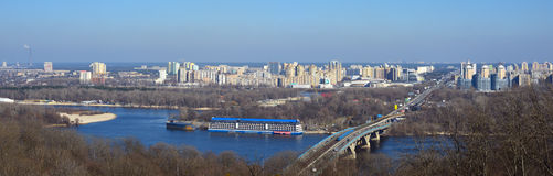 View on the left bank of Kyiv Royalty Free Stock Images