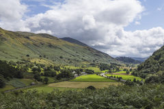 View of Legburthwaite from Wren Crag Royalty Free Stock Image