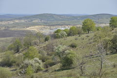 View of the Leghia quarry. Royalty Free Stock Images