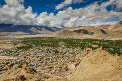 View of Leh city with Himalayas-Leh,Ladakh,India Stock Image