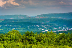 View of Lehigh Gap from Flagstaff Mountain, Pennsylvania. Stock Image