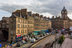 View of Leith Street in Edinburgh Royalty Free Stock Photos