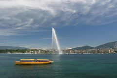 View on the Leman in Geneva Stock Photos