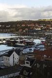 View of Lemvig harbor Royalty Free Stock Images