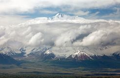 View of Lenin Peak from Alay range Royalty Free Stock Images