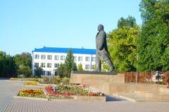 View of Lenin Square in Stolin. Stock Photo