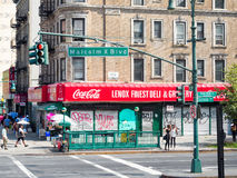 View of Lenox Avenue in Harlem, New York City Stock Images