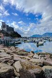 View of Lerici Castle in full autumn, next to the harbor royalty free stock images