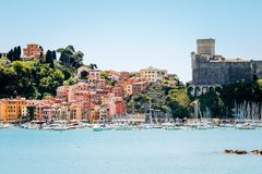 View of Lerici, Cinque Terre, Italy royalty free stock images