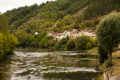 View of Les-Eyzies-de-Tayac-Sireuil France Stock Image