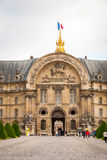 View on Les Invalides building with golden dome, Paris Stock Image