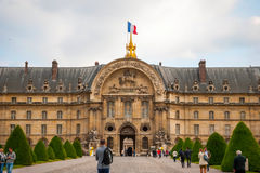 View on Les Invalides building with golden dome, Paris Stock Images