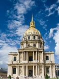 A view of Les Invalides in Paris Stock Image