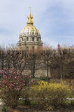 View of Les Invalides in Paris Stock Photography