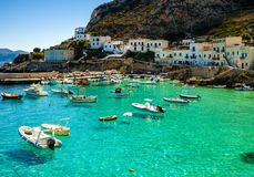 A view of Levanzo Island, Sicily stock images