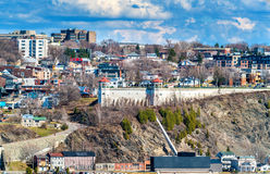 View of Levis town from Quebec City, Canada Stock Photo