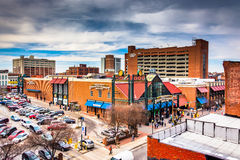 View of Lexington Market from a parking garage in Baltimore, Mar Stock Photos