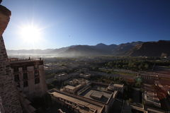 View of Lhasa at Potala Palace Royalty Free Stock Photography